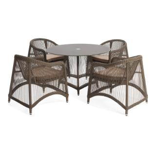 Aria 5 pieces oval dining set