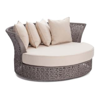 Comte swivel chair with cushion & 4 pieces pillow